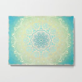 Mandala Digital Art,Shabby Chic, Digital Print,Mandala Print, Zen Art,Meditation Art,Wall Decor, Flo Metal Print