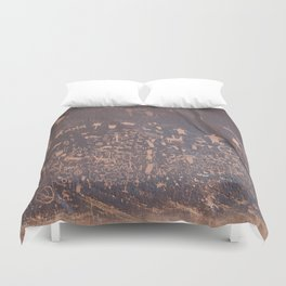 Newspaper Rock Duvet Cover