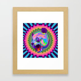 Prismatic Panda  Framed Art Print