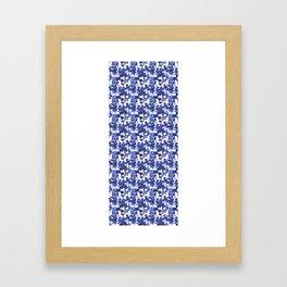 Indigo Floral Framed Art Print