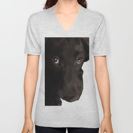 Labrador Puppy Dog (chocolate) Unisex V-Neck