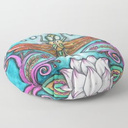 Enlightened Dragonfly Floor Pillow