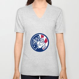American Cable Installer USA Flag Icon Unisex V-Neck