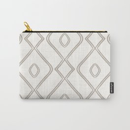 Modern Boho Ogee in Cream Carry-All Pouch