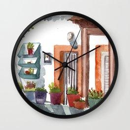Front garden in Haraki Wall Clock