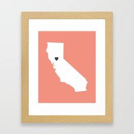 California Love in Peach Framed Art Print