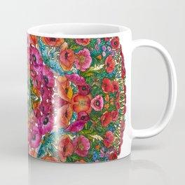 Mandala with Poppies and Cornflowers Coffee Mug