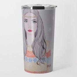 Nordic Girl Travel Mug