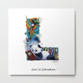 Lost in Literature Metal Print