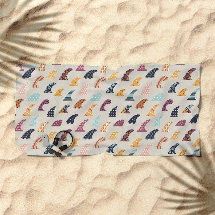 Single fin Beach Towel