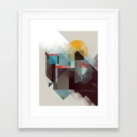 mountains Framed Art Prints featuring Over mountains by Efi Tolia