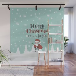 Merry Christmas and Happy New Year Wall Mural