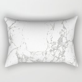 Gray white abstract modern marble pattern Rectangular Pillow