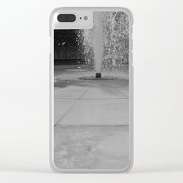 Chasing fountains Clear iPhone Case