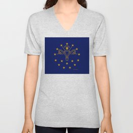 Indiana: The Crossroads of Abortion Access Unisex V-Neck