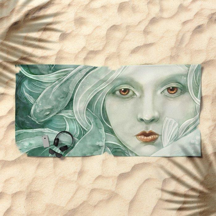 Koi Beach Towel