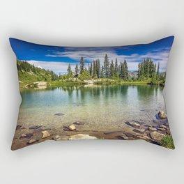 Mountain Lake in the Mt Rainier National Park Rectangular Pillow