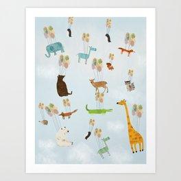 the sky zoo Art Print