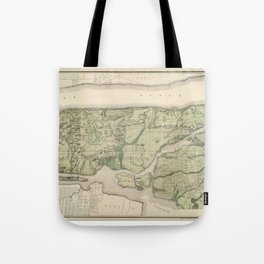 1874 Topographical Atlas of New York City (Manhattan/New Amsterdam) Tote Bag