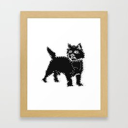 I have Connected the CAIRN TERRIER Doggy Dots! Framed Art Print