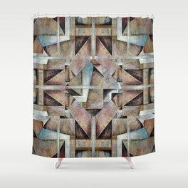 Granny Smith Geometric Shower Curtain