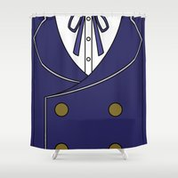 persona Shower Curtains featuring Persona 4 Naoto Shirogane Jacket by Bunny Frost
