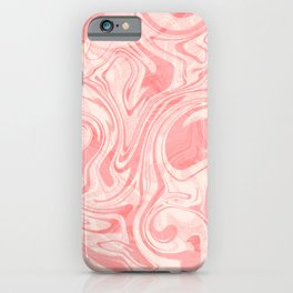 MARBLE SOFT PINK iPhone Case