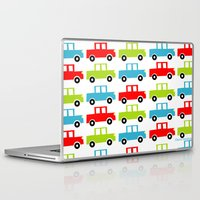 cars Laptop & iPad Skins featuring cars by laura mendoza v.