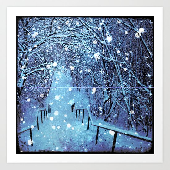 the blues of winter Art Print