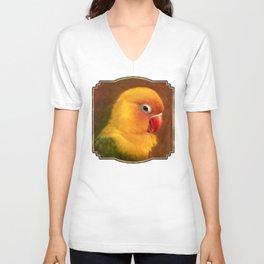 Fischer lovebird realistic painting Unisex V-Neck