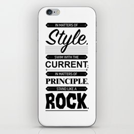 Lab No. 4 Swim With The Current Thomas Jefferson Life Inspirational Quotes iPhone Skin