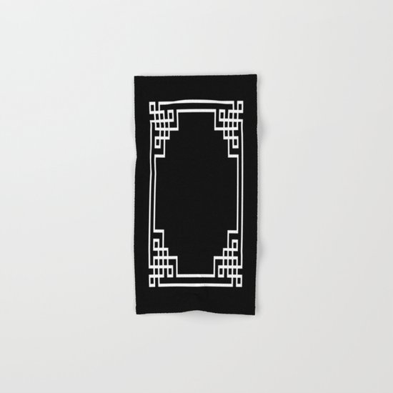 Black White Lattice Hand & Bath Towel