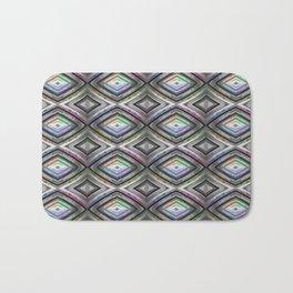 Bright symmetrical rhombus pattern Bath Mat