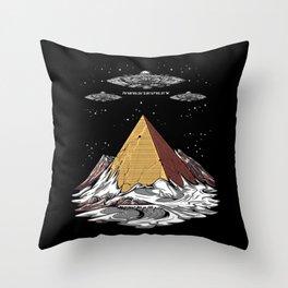 Antarctica Alien Egyptian Pyramids UFO Conspiracy Throw Pillow