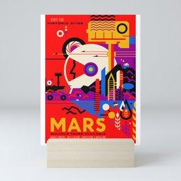 Mars. Retro Futurism Mini Art Print