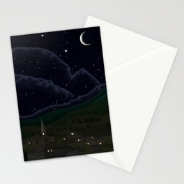 Starry Night Realistic  Stationery Cards