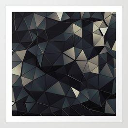 Polygon Noir Art Print