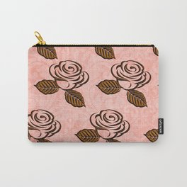 chocolate background floral pattern Carry-All Pouch
