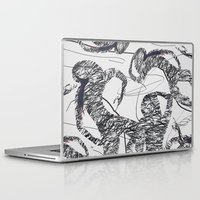 calligraphy Laptop & iPad Skins featuring Calligraphy Dance by ImPrintable