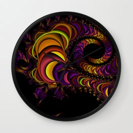 colors snake Wall Clock