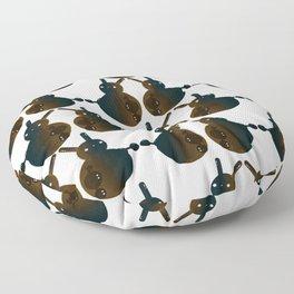 Robot Ball Bunny Floor Pillow