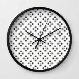 Pattern flowers color grey gradient Wall Clock