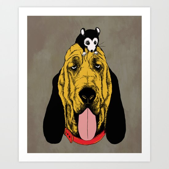 The Mouse and the Bloodhound Art Print