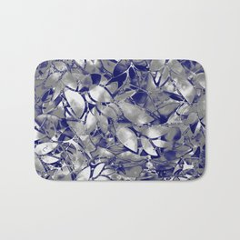 Grunge Art Silver Floral Abstract G169 Bath Mat