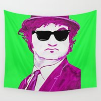 jake Wall Tapestries featuring Jake Blues 2 by Rachcox