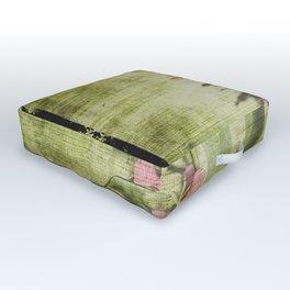 Decorative Green Floral Outdoor Floor Cushion
