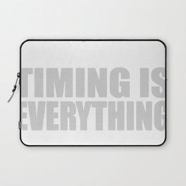 Bass Player Timing is Everything Laptop Sleeve