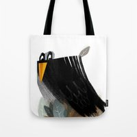 birdy Tote Bags featuring Birdy by Jovana