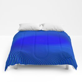 Electric Blue Swirl Comforters