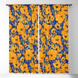 Wild Poppies — Orange Blackout Curtain